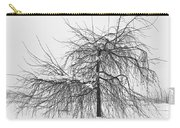 Wild Springtime Winter Tree Black And White Carry-all Pouch by James BO  Insogna