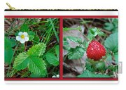 Wild Strawberry Plant - Fragaria Virginiana Carry-all Pouch