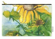 Wild Sunflowers Carry-all Pouch by Sherry Harradence