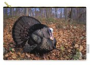 Wild Turkey Displaying Carry-all Pouch by Len Rue Jr