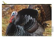 Wild Turkey Male Displaying Long Island Carry-all Pouch