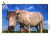 Wild Young Horse On The Field Carry-all Pouch