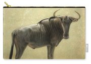 Wildebeest Carry-all Pouch by James W Johnson