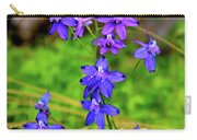 Wildflower Larkspur Carry-all Pouch