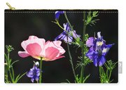 Wildflowers On Black Carry-all Pouch
