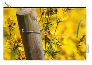 Wildflowers On Fence Post Carry-all Pouch