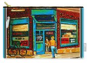 Wilenskys Art Famous Blue Door Posters Prints Cards Originals Commission Montreal Painting Cspandau  Carry-all Pouch