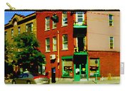 Wilenskys Famous Light Lunch Diner Corner Clark And Fairmount Montreal City Scene Carole Spandau Carry-all Pouch