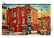 Wilenskys Hockey Art Paintings Originals Commissions Prints Montreal Deps Street Art Carole Spandau  Carry-all Pouch