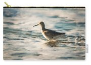 Willet Wading Through The Ocean Foam Carry-all Pouch