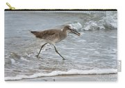 Willet With Mole Crab Carry-all Pouch