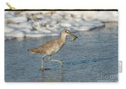 Willet With Sand Crab Carry-all Pouch