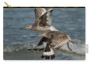 Willets In Flight Showing Molt Carry-all Pouch