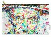 William Burroughs Watercolor Portrait Carry-all Pouch