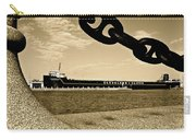 William G Mather In Sepia Carry-all Pouch