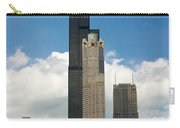 Willis Tower Aka Sears Tower Carry-all Pouch by Adam Romanowicz