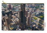 Willis Tower Chicago Aloft Carry-all Pouch by Steve Gadomski