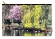 Willow And Cherry By Lake Carry-all Pouch