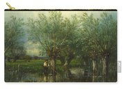 Willows With A Man Fishing Carry-all Pouch