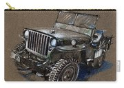 Willys Car Drawing Carry-all Pouch
