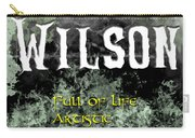 Wilson - Full Of Life Artistic Carry-all Pouch by Christopher Gaston