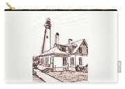 Wind Point Lighthouse Drawing Mode 1 Carry-all Pouch