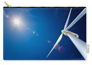 Wind Turbine And Sun  Carry-all Pouch by Johan Swanepoel