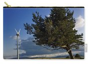 Wind Turbine And Tree On The Plateau Of  Cezallier. Auvergne. France. Carry-all Pouch