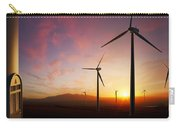 Wind Turbines At Sunset Carry-all Pouch