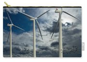 Wind Turbines Blue Sky Carry-all Pouch