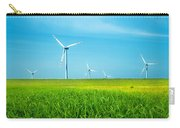 Wind Turbines On Green Field Carry-all Pouch