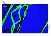 Winding Green And Blue Abstract Carry-all Pouch