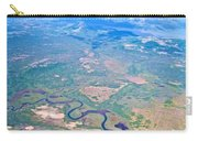 Winding River From The Seaplane In Katmai National Preserve-alaska Carry-all Pouch