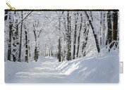 Winding Snowy Road In Winter Carry-all Pouch