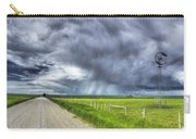 Windmill And Country Road With Storm Carry-all Pouch