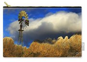 Windmill At The Organ Mountains New Mexico Carry-all Pouch by Bob Christopher