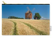 Windmill In A Field Of Corn.  Carry-all Pouch