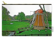 Windmill In A Park In Enkhuizen-netherlands Carry-all Pouch