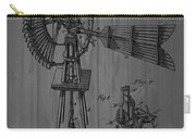 Windmill Patent Barn Wall Carry-all Pouch
