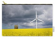 Windmill With Motion Blur In Rapeseed Field Carry-all Pouch