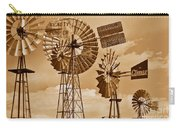 Windmills In Sepia Carry-all Pouch