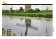 Windmills Of Kinderdijk With Flowers Carry-all Pouch