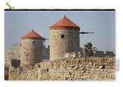 Windmills Of Rhodos - Port Of The Myloi Carry-all Pouch