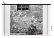 Window And Flowers Poster Carry-all Pouch