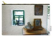 Window And Little Dressing Table In An Old Thatched Cottage Carry-all Pouch