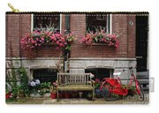 Window Box Bicycle And Bench  -- Amsterdam Carry-all Pouch