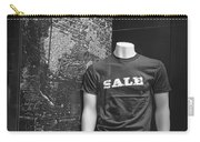 Window Display Sale In Black And White Photograph With Mannequin No.0129 Carry-all Pouch