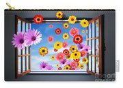 Window Of Flowers Carry-all Pouch