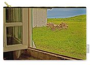 Window On Sod-covered Roof In Louisbourg Living History Museum-1744-ns Carry-all Pouch