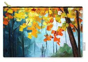 Window To The Fall - Palette Knife Oil Painting On Canvas By Leonid Afremov Carry-all Pouch